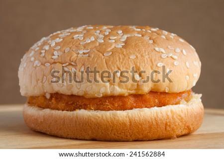 chicken hamburger  - stock photo