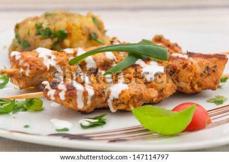 Chicken kebab in sour cream - Indian cuisine