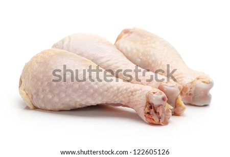 Chicken legs isolated on white background