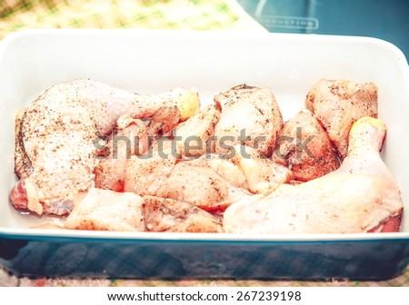 chicken meat (raw) - stock photo