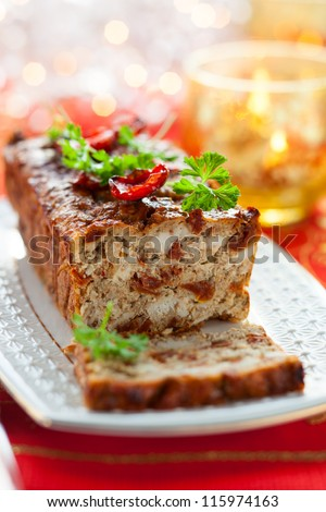 Chicken Meatloaf with Sun-Dried Tomatoes for Holiday