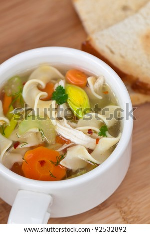 Chicken Noodle Soup closeup