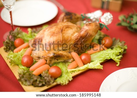 chicken on table
