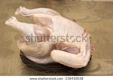 chicken on the table - stock photo
