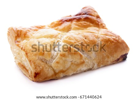 chicken pie isolated on white background