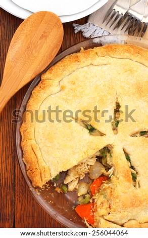 Chicken pot pie - stock photo