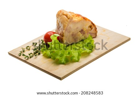 Chicken roll with salad and thyme