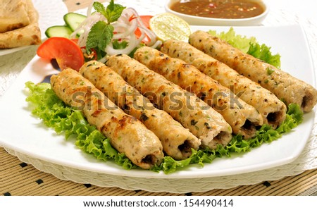 Chicken Seekh Kabab-3 - stock photo