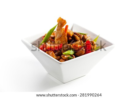 Chicken Stir-Fry Cashew and Vegetables with Sweet Sauce - stock photo