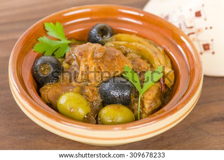 Chicken Tagine - Moroccan chicken tagine with olives, preserved lemon and fennel.