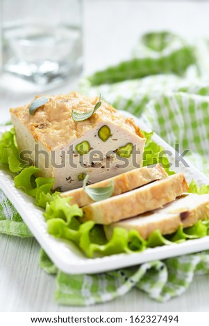 Rabbit food stock images royalty free images vectors for Chicken and pork terrine with pistachio