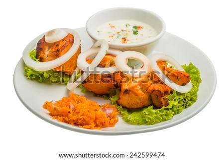 Chicken Tikka - stock photo