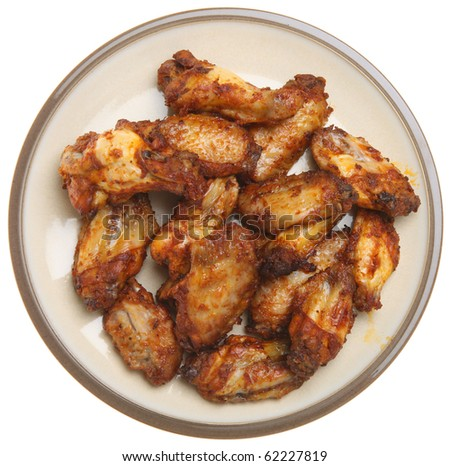 Chicken wings barbecued. - stock photo