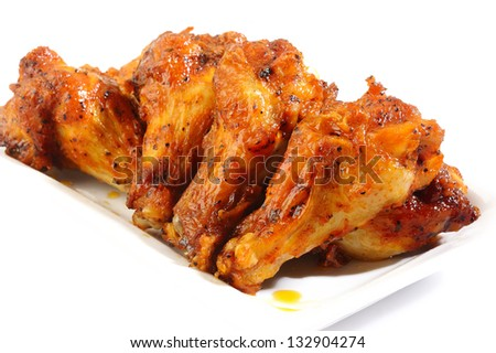 chicken wings stick on white background
