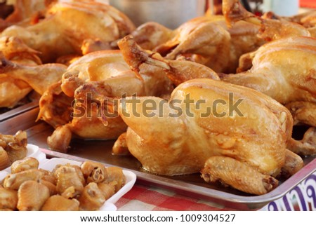 Chicken with fish sauce at street food