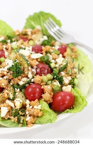 Chickpea and Quinoa Salad - stock photo