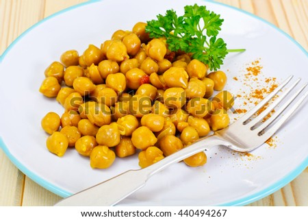 Chickpea Curry Studio Photo