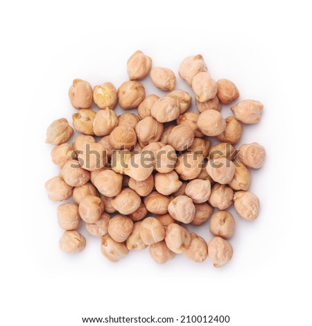 chickpea isolated  - stock photo