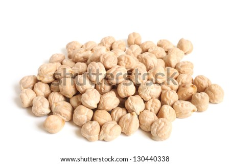 Chickpea on a white background - stock photo