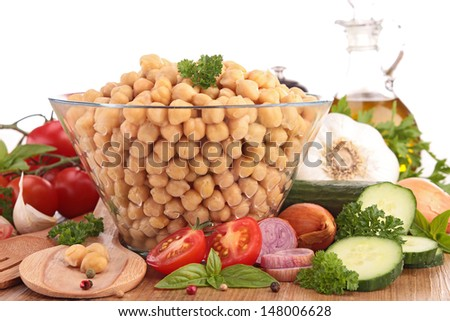 chickpea salad with ingredient