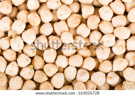 Chickpea seeds closeup - stock photo