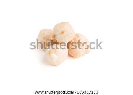 Chickpea seeds closeup isolated on white - stock photo
