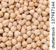 chickpeas background closeup - stock photo