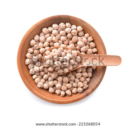 chickpeas isolated on white background - stock photo