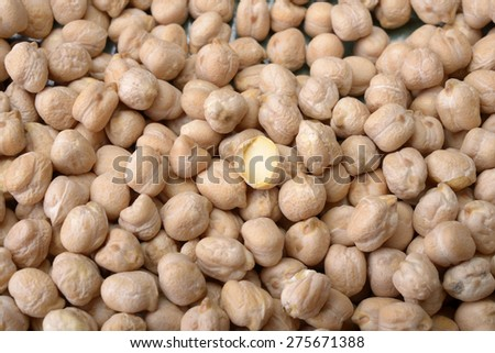 Chickpeas or Garbanzo Beans - stock photo