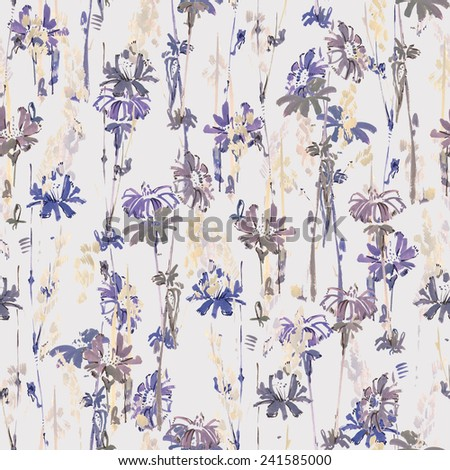 Chicory seamless pattern - stock photo