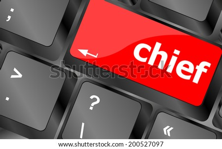 chief button on computer pc keyboard key