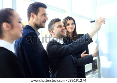 Chief gathering his managers for the meeting  - stock photo
