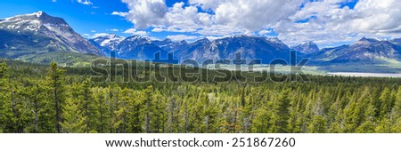 Chief Mountain Lookout with a view of Waterton Lakes National Park in Alberta, Canada - stock photo