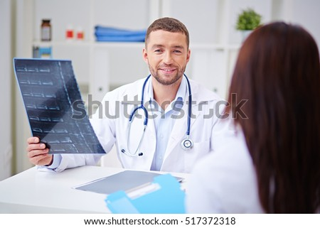 Chief Physician in office