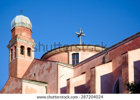 Chiesa di San Nicola da Tolentino - so cold Tolentini church in Venice, Italy dedicated to Saint Nicholas of Tolentino - stock photo