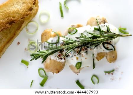 chiken with rosemary - stock photo