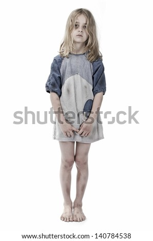 Child abuse - stock photo