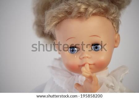 Child abuse concept - stock photo