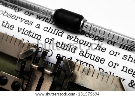 Child abuse form - stock photo