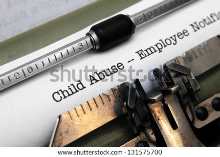 Child abuse form