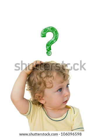 Child brooding - stock photo