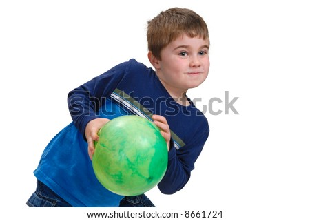 Child catching a ball - stock photo