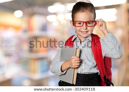 Child child, school, genius. - stock photo