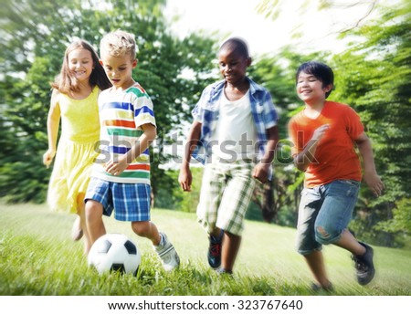 Child Childhood Children Happiness Togetherness Concept