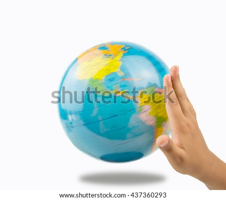 child circling a globe to decide your next vacation