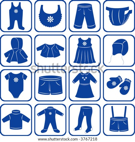 Child clothes set. - stock photo