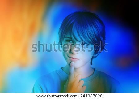 child colorful imagination - stock photo