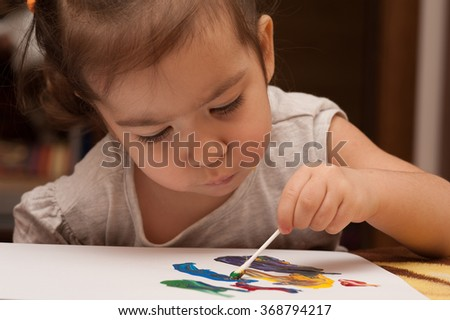 child draws