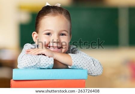Child, Education, Book. - stock photo