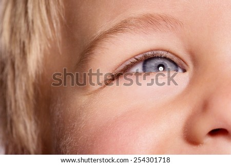 CHILD FACE - stock photo